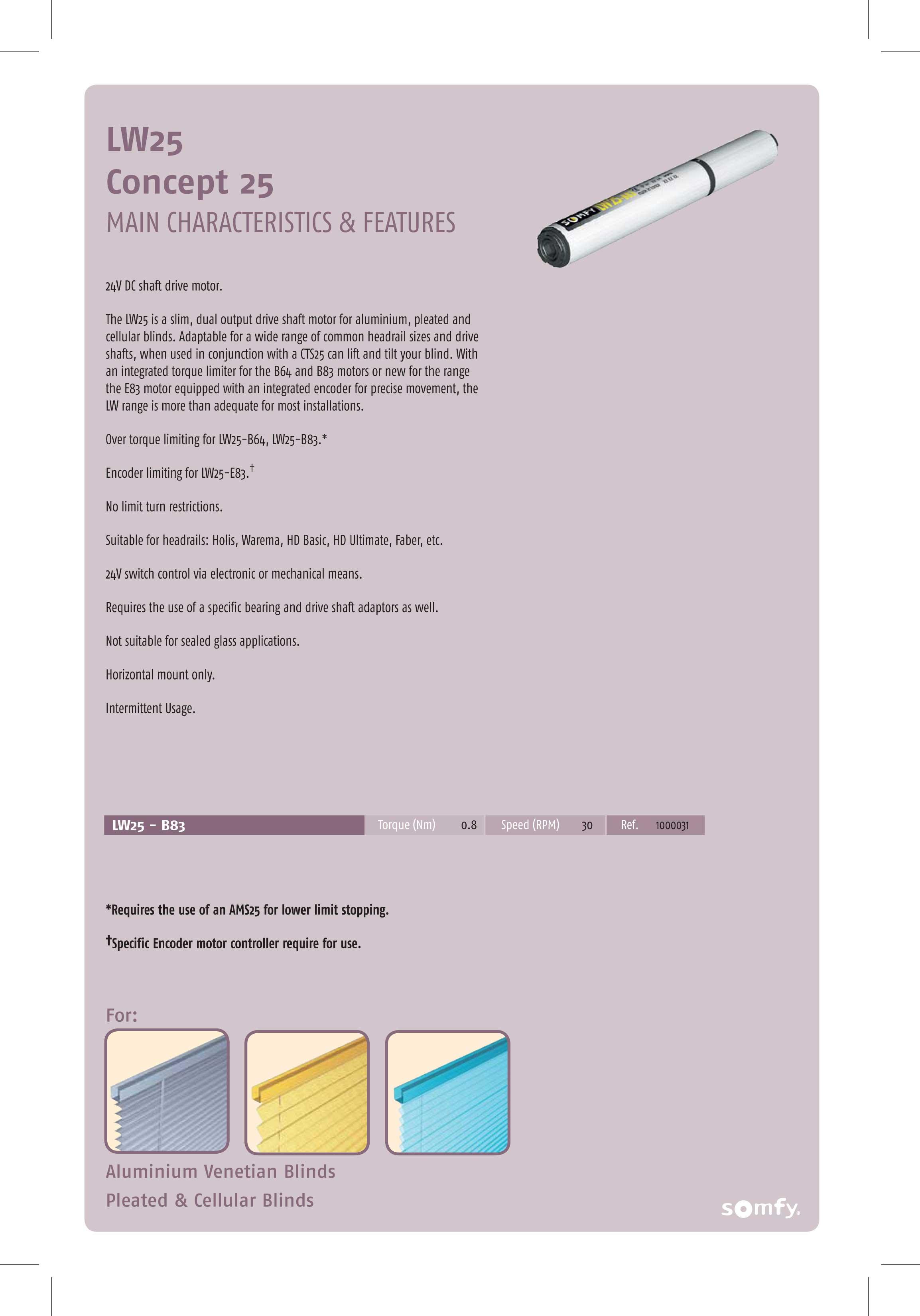 Somfy motors & controls - Proshade sal